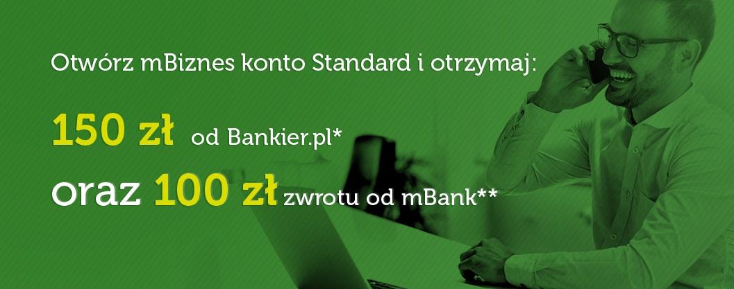 250 zł za konto firmowe w mBanku