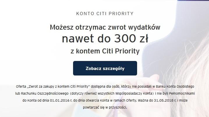 Do 360 zł za konto osobiste w Citibanku