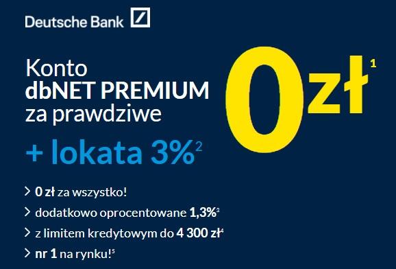 Lokata na 3% i Konto Oszczędnościowe na 2,50% w DB