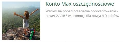 Konto Max Oszczędnościowe