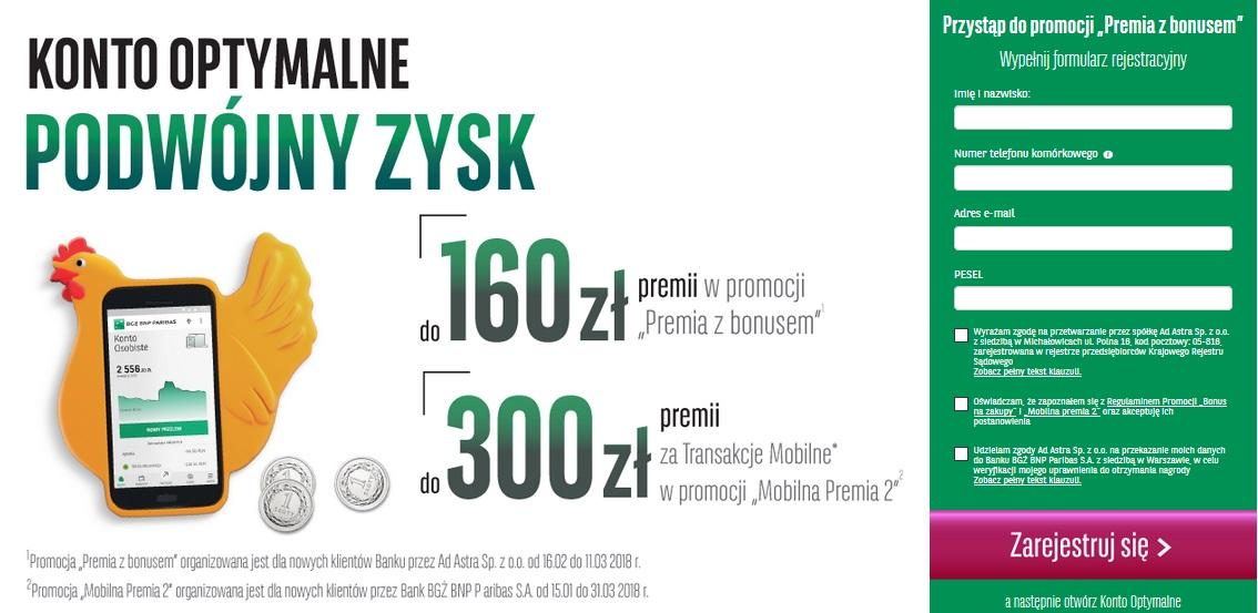 460 zł za konto w Banku BGŻ BNP Paribas