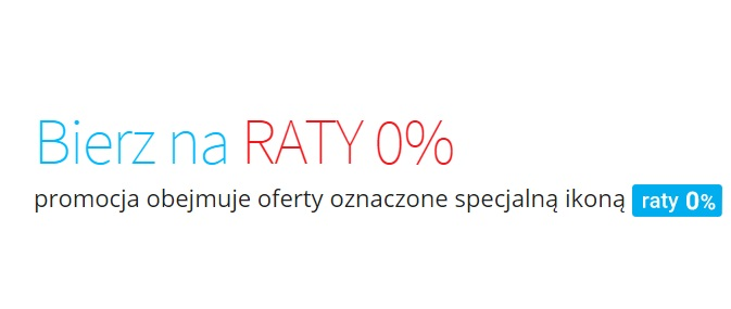 raty zero procent na Allegro