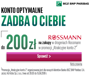 200 zł do Rossmanna za konto osobiste