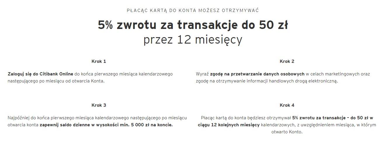 600 zł premii za konto osobiste Citi Priority