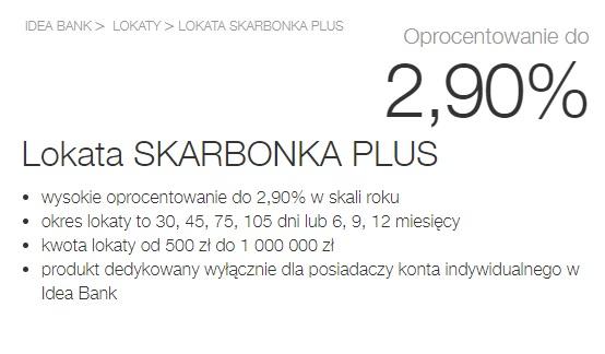 Lokaty Skarbonki Plus