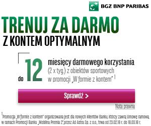 Darmowy karnet sportowy za Konto Optymalne w BGŻ BNP Paribas