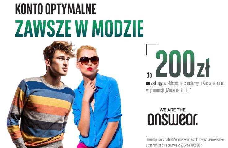 Bon na 200 zł do answear.com za Konto Optymalne w BGŻ BNP Paribas