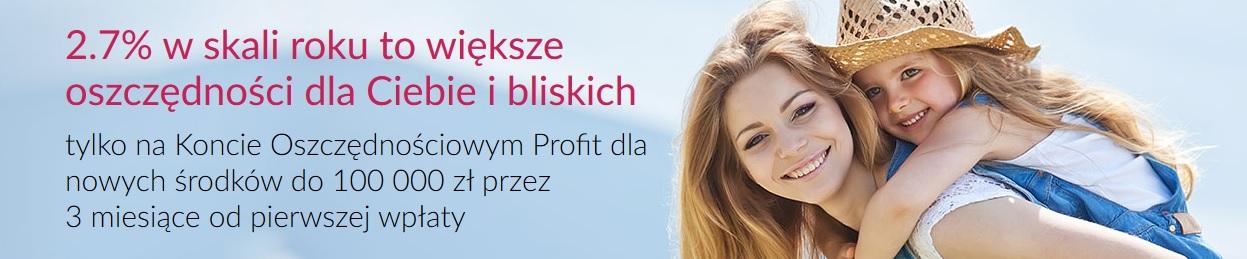 Konto Oszczędnościowe Profit na 2,70% w Banku Millennium