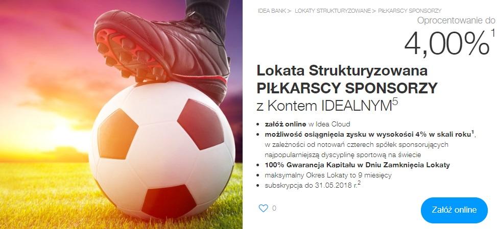 Lokata Strukturyzowana Piłkarscy Sponsorzy