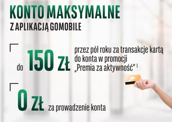 150 zł premii za Konto Maksymalne w BGŻ BNP Paribas