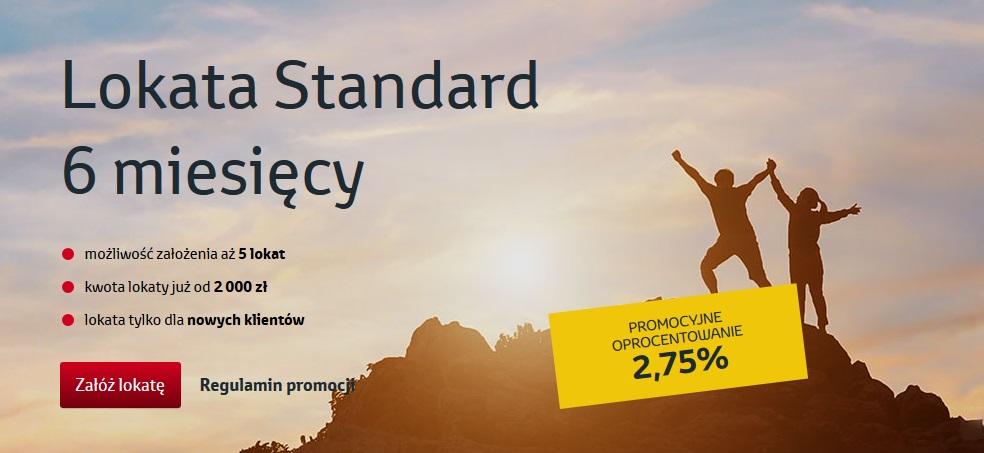 Lokata Standard na 2,75% w Toyota Banku