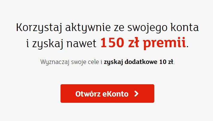 150 zł premii za otwarcie eKonta w mBanku