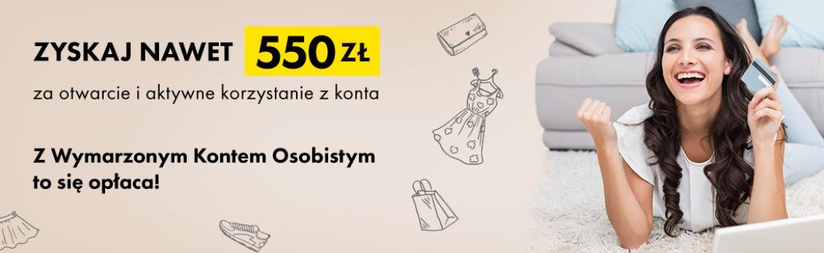 550 zł za Wymarzone Konto Osobiste w Raiffeisen Polbanku