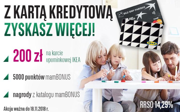 200 zł do sklepu Ikea za kartę kredytową w BGŻ BNP Paribas