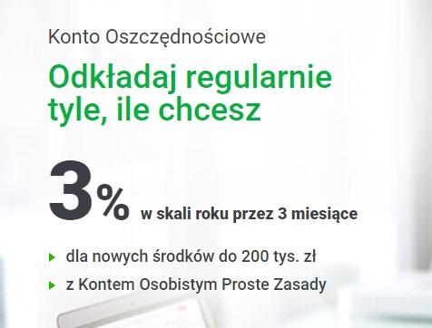 3% na Koncie Oszczędnościowym i 50 zł za Konto Osobiste
