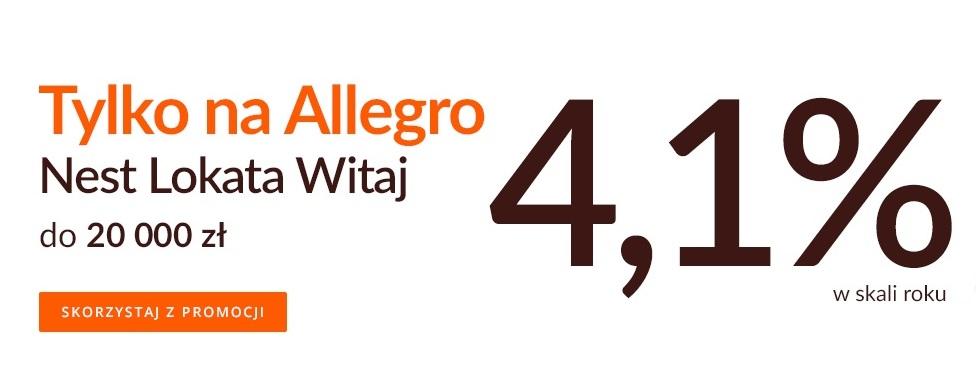 Nest Lokata Witaj Allegro na 4,10% w Nest Banku