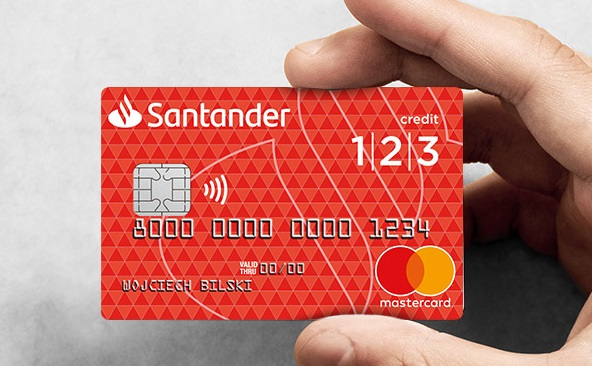 Karta kredytowa 1|2|3 w Santanderze ze zwrotem nawet 760 zł