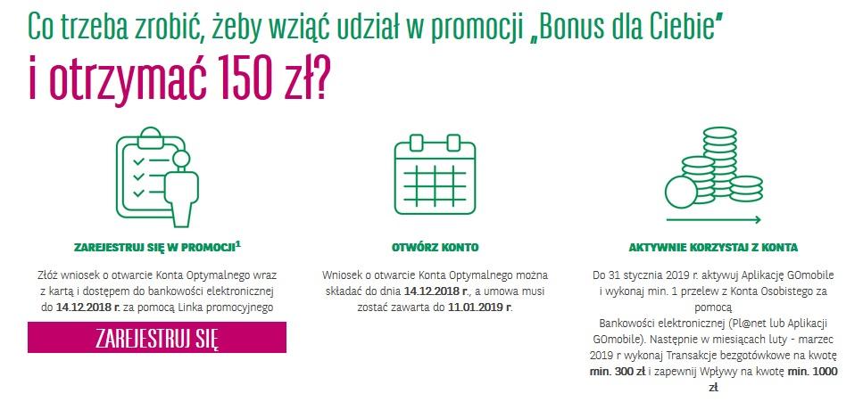 150 zł za konto osobiste w BGŻ BNP Paribas
