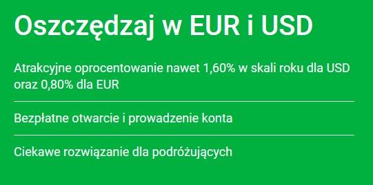 Najlepsze konta walutowe z oprocentowaniem