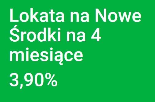 Lokata na 3,90% w Getin Banku