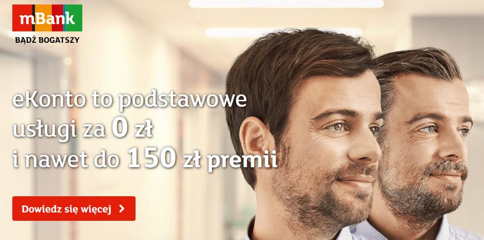 Premia 200 zł za wynagrodzenie lub 150 zł za transakcje w mBanku