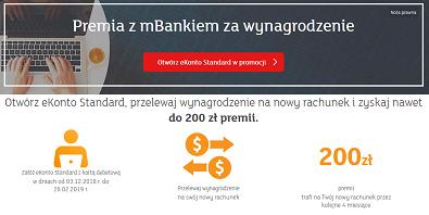 200 zł za wynagrodzenie w mBanku