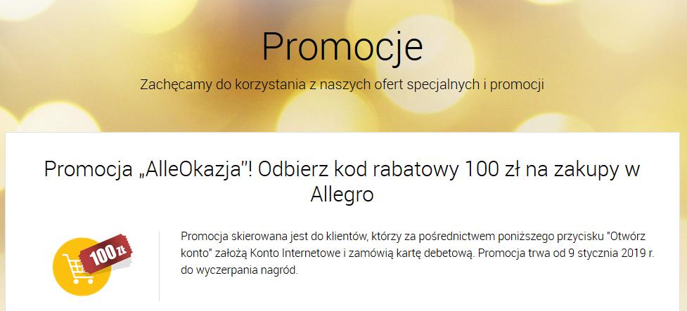 100 zł na Allegro za Konto Internetowe w Alior Banku