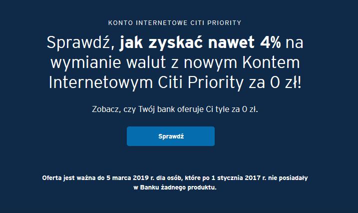 150 zł za konto osobiste w Citibanku