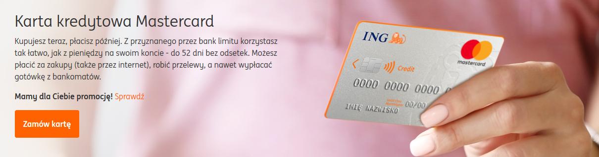 150 zł za kartę kredytową w ING Banku Śląskim