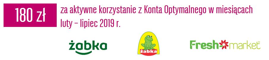 180 zł do Żabki lub Freshmarket w akcji Skocz po premię BGŻ BNP Paribas