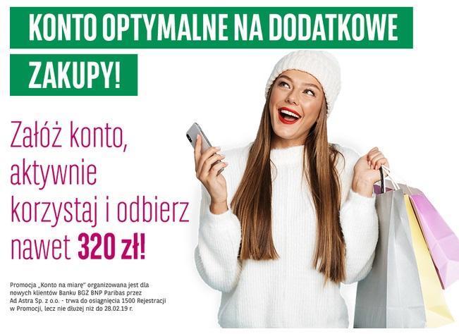 320 zł za konto osobiste w BGŻ BNP Parinas