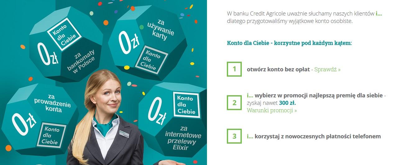 Rachunek Oszczędzam na 3% + do 350 zł za otwarcie Konta w Credit Agricole