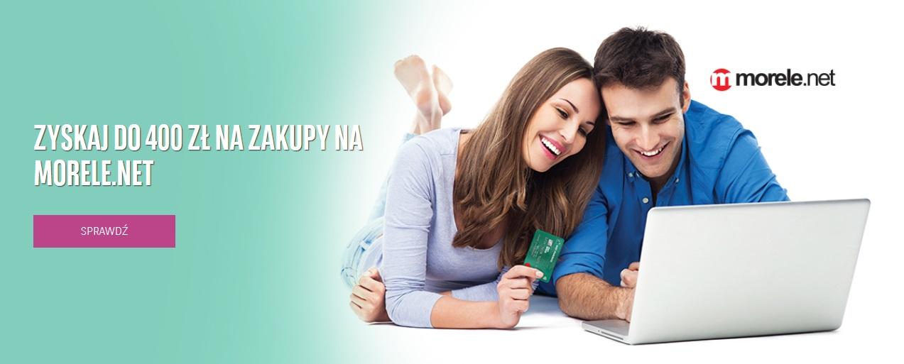 Ponownie 400 zł na morele.net za kartę kredytową w BNP Paribas