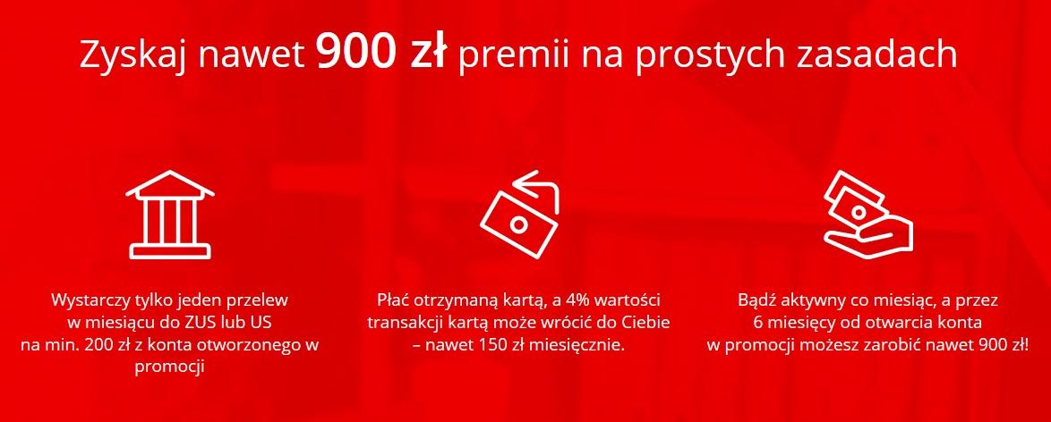 900 zł premii za konto firmowe Godne Polecenia w Santanderze