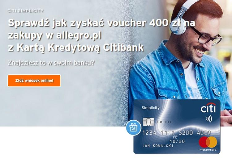 400 zł na Allegro w Citibanku