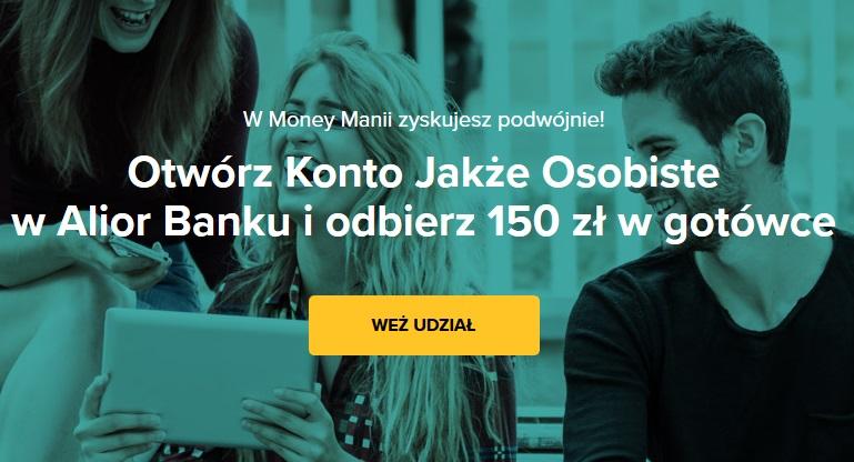 150 zł za konto osobiste w Alior Banku