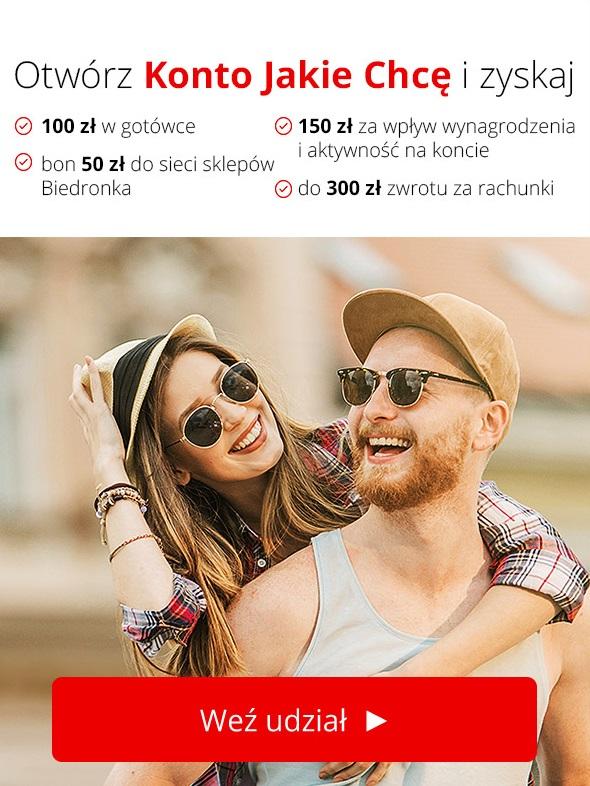 Do 380 zł za Konto Jakie Chcę w Santanderze