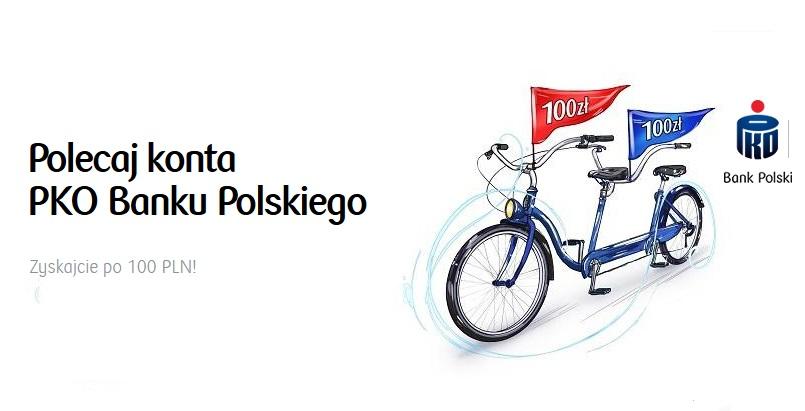 100 zł za konto w PKO BP w programie Polecam PKO