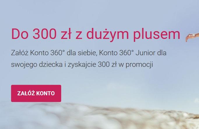 200 zł  + 100 zł za konta w Banku Millennium