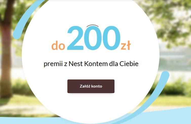 200 zł za konto osobiste w Nest Banku