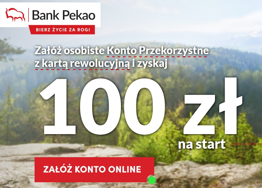 100 zł za konto osobiste w PEKAO