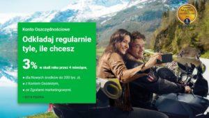Konto Oszczędnościowe w Getin Banku  na 3% + 50 zł za konto dla nowych oraz 100 zł za kartę kredytową