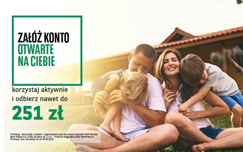 251 zł za konto osobiste w BNP Paribas