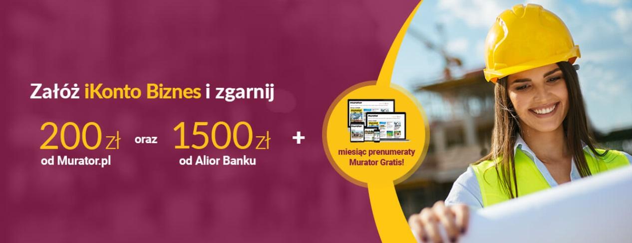 Premia 200 zł za konto firmowe w Alior Banku + do 1.500 zł za aktywności
