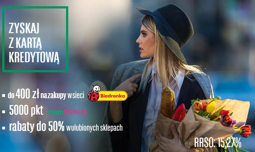400 zł do Biedronki za kartę kredytową w BNP Paribas