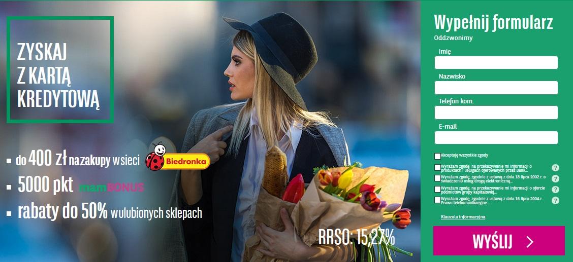 Ponownie łatwe 400 zł do Biedronki za kartę kredytową w BNP Paribas