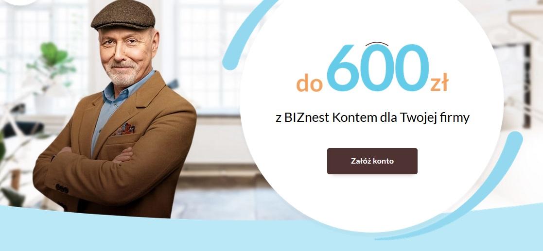 200 zł za konto firmowe w Nest Banku i 400 zł za terminal