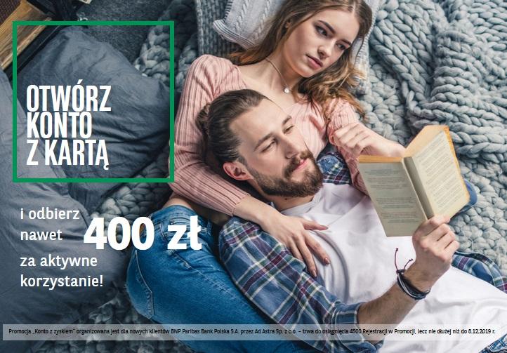 400 zł za konto osobiste w BNP Paribas