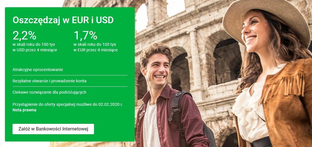 Najlepsze lokaty i konta walutowe na koniec 2019 roku