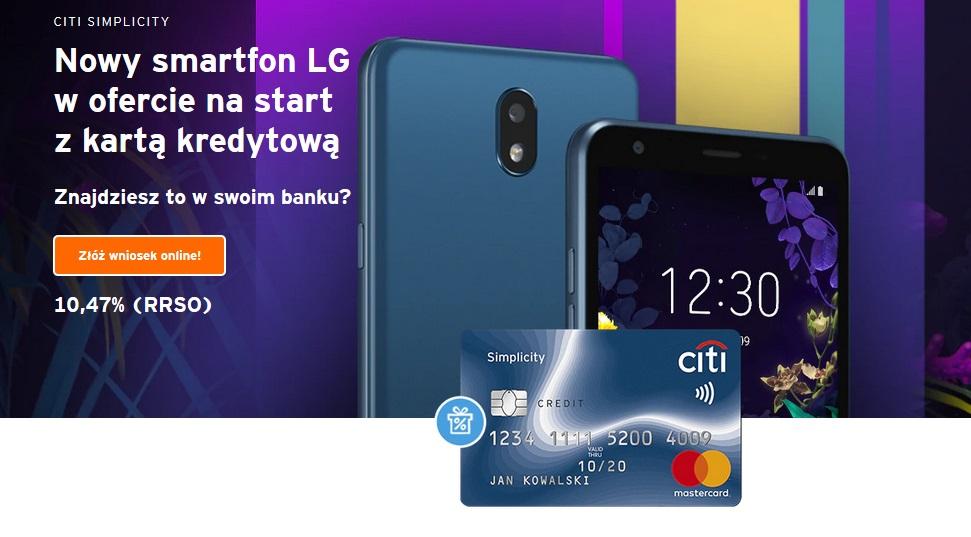 Smartfon LG za kartę w Citibanku